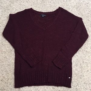 Women's L American Eagle long sleeve knit sweater